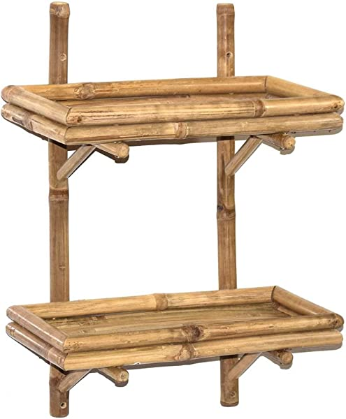Bamboo Double Wall Shelf