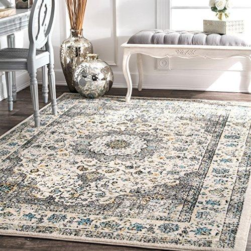 """nuLOOM 200RZBD07A-53079 Verona Vintage Persian Area Rug, 5' x 7' 5"""", Grey, Gray"""