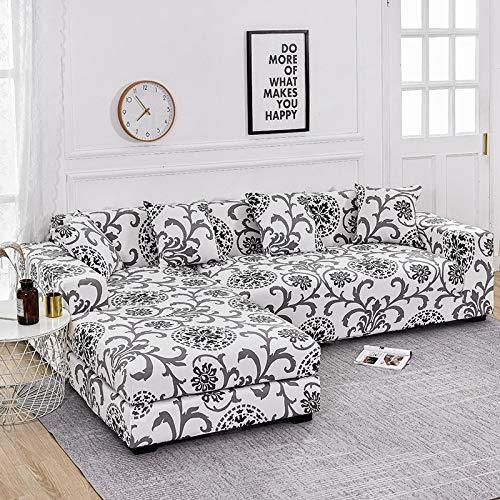 WXQY Funda de sofá con Estampado Floral, Esquina de Asiento, sofá Chaise Longue en Forma de L, Funda de sofá elástica, Funda de sillón A7, 1 Plaza
