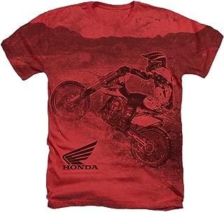 Honda Motorcross Unisex Adult Sublimated Heather T Shirt for Men and Women