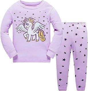 18a9f35d1dba5 Enfants Filles Pyjamas Set Licorne vêtements de Nuit Manches Longues Coton vêtements  Costume Deux pièces Ensemble