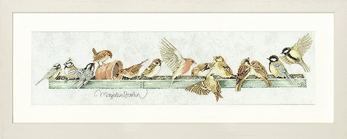 Lanarte Counted Cross Stitch Kit: The Pecking Order (Evenweave)