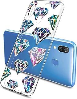Oihxse Funda Dibujos Diamantes Brillantes Compatible Samsung Galaxy A91/M80S Transparente Silicona TPU Bumper Case Ultra D...