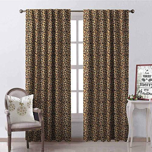 Luipaard Print Warmte Isolatie Gordijn Spotty Jungle Safari Feline Print Wild Afrika Inspiratie Tegel Patroon voor Woonkamer