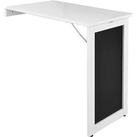 SoBuy FWT20-W Table Murale Pliable Bureau Murale Rabattable Table de Cuisine Salle à Manger avec Mémo Board - 50L x 75l x76H cm