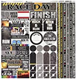 Reminisce TRUC-100 Running Cardstock Sticker, 12' by 12', Multicolor