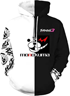 Danganronpa Monokuma Costume Cosplay Unisex Hoodie,3D Printing Hooded Sweatshirt Winter Long Sleeve Hoodie Coat Jacket(S-5XL)