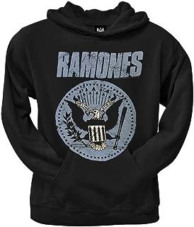Ramones Hoodie Blue Presidential Seal Logo Black Pullover Hooded Sweatshirt