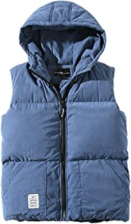 Christor Men's Autumn Winter Jacket Body Warmer Waistcoat Zipper Fashion Pure Color Hoodie Gilets Fit Outdoor Traveling Ph...