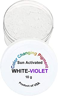 Sun UV Activated Photochromic Powder Pigment White Changing to Violet Perfect for Color Changing Slime Science Projects Arts and Crafts