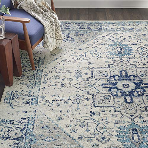 Nourison TRA06 Tranquil Persian Vintage Ivory/Light Blue Area Rug 8' X 10'