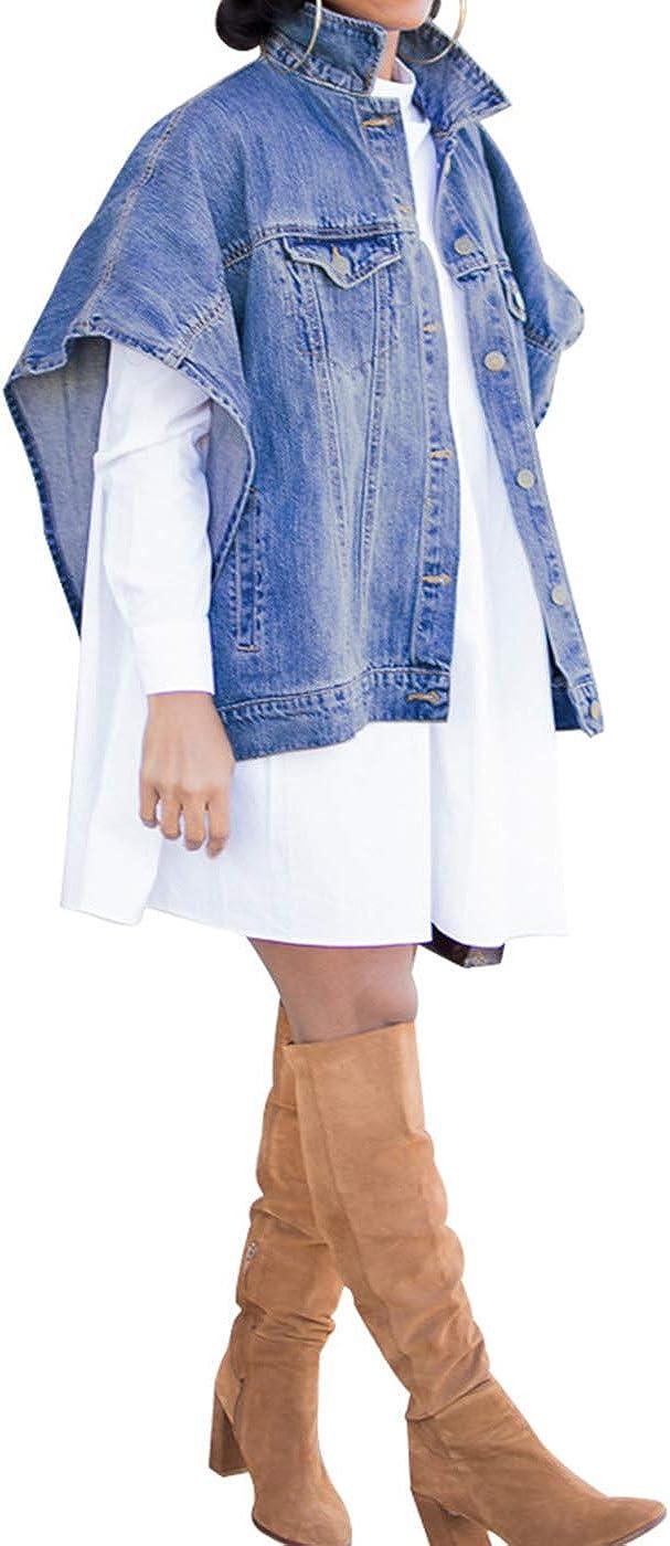 Women's Ripped Distressed Casual Long Sleeve Denim Jean Jacket