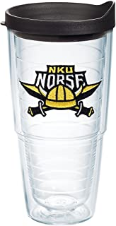 Tervis Northern Kentucky Norse Logo Insulated Tumbler with Emblem and Black Lid, 24oz, Clear