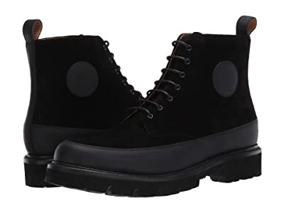 Grenson Anton Boot (Black Rubberised/Black Suede) Men