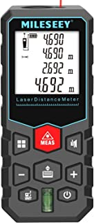 Mileseey Laser Measure 131Ft Digital Distance Meter with Mute Function Measuring Device with Pythagorean Mode, Measure Dis...