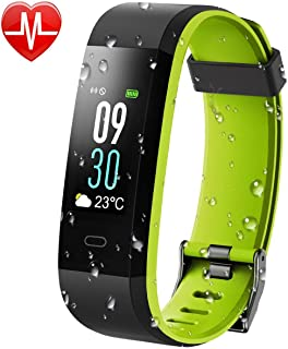 KARSEEN Fitness Tracker, Activity Tracker IP68 Waterproof Fitness Watch Heart Rate Monitor Colorful OLED Screen Smart Watch with Sleep Monitor Step Counter Rminder Pedometer for Android&iOS