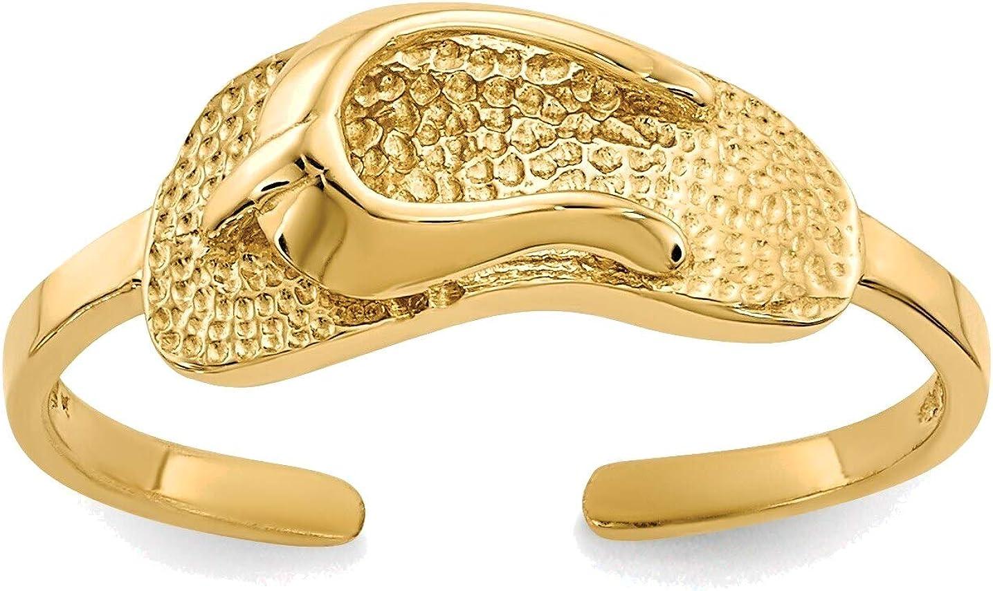 Bonyak Jewelry Sandal Toe Ring in 14K Yellow Gold in Size 11