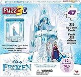 Frozen II, Puzzle in Plastica da 47 Pezzi, Il castello di Ghiaccio di Elsa Tridimensionale...