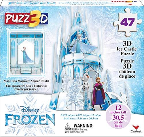 Frozen II, Puzzle in Plastica da 47 Pezzi, Il castello di Ghiaccio di Elsa Tridimensionale, Dagli 8 Anni in Su