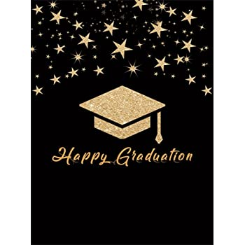 Amazon Com Leowefowa 5x7ft Happy Graduation Backdrop Bokeh