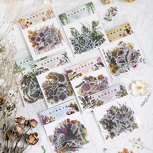 Bloemplanten Handboek Serie Decoratieve Stickers Scrapbooking Stick Label Dagboek briefpapier Album Vintage Plant Sticker