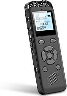 Aomago 32GB Digital Voice Recorder for Lectures Meetings - A36 Audio Recorder with Playback Support External Microphone an...