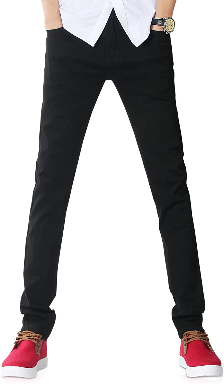 supreme DemonHunter Men's Black Skinny S8L20 Albuquerque Mall Jeans Stretch Fit