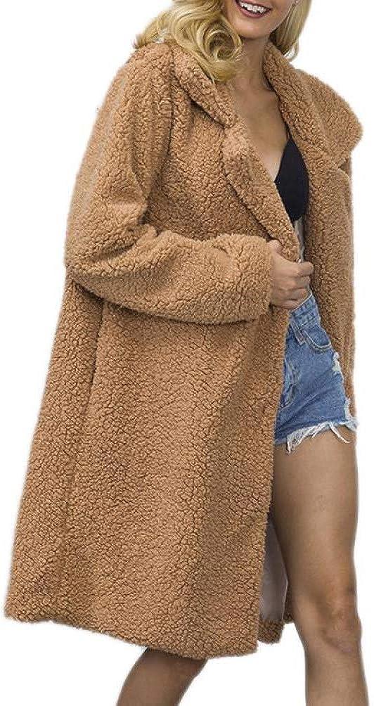 Women Long Faux Fur Teddy Coats Jackets Women Winter Overcoats Streetwear Fluffy Thicken Warm Fake Fur Outerwear