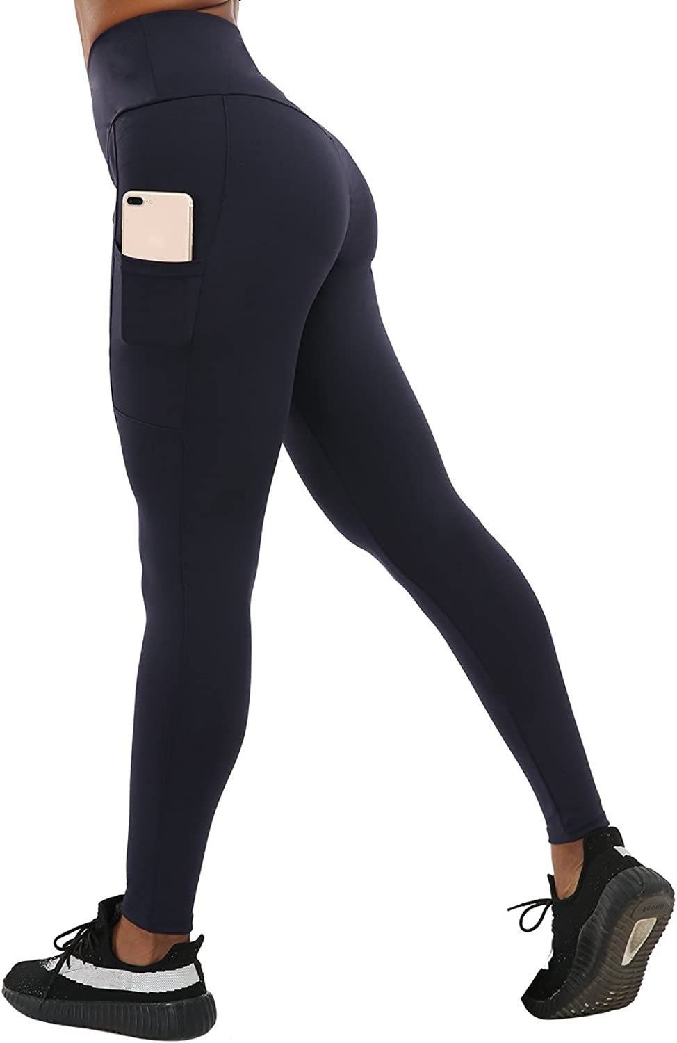 CHRLEISURE Yoga Pants for Women  High Waisted Leggings with 2 Pockets, Tummy Control, Ruched Butt Capris Leggings
