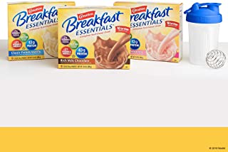 Carnation Breakfast Essentials Powder Drink Mix, Variety Pack, Box of 10 Packets (3 Pack) Shaker Bottle Included