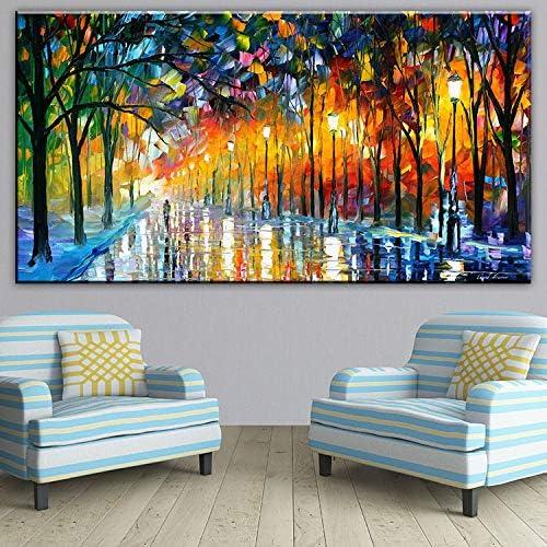 autorización oficial QIAISHI Artista del árbol de Color Arte Ligero Pintura de de de la Parojo impresión en la Lona para la decoración casera Pintura al óleo Artes No Hay Cuadros enmarcados de la Parojo  costo real