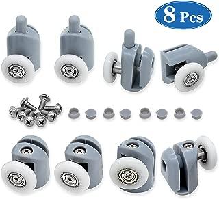 cococity 8 piezas de rodillos para puerta de ducha/