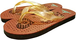Sm Ecom Express®_Casual Slippers for Kids, Heart Preinted Color- 1Pc Brown Size-4