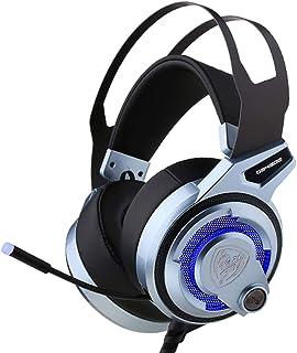 Somic G949DE,PC PS4 Fone de ouvido para jogos com cancelamento de ruído, som estéreo surround virtual, microfone e luzes L...