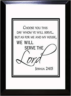 As for Me and My House We Will Serve The Lord Wall Plaque Sign 9 in x 12 in