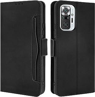 HualuBro Xiaomi Redmi Note 10 Pro fodral, magnetiskt helkroppsskydd stötsäker flip läder plånbok fodral skydd med kortfack...
