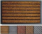 Extra Durable Door Mat Outdoors (30x18) - Rubber Door Mat - Absorbent Doormat Outdoor - Front Door Mat - Back Door Mat -...