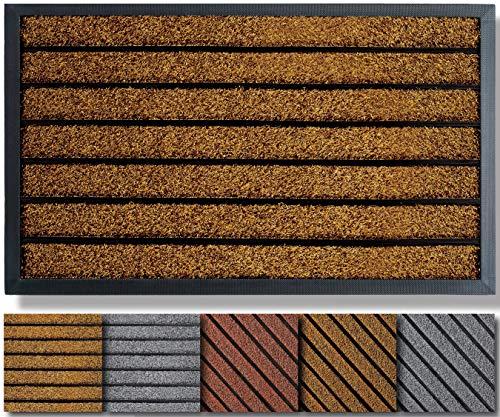 Extra Durable Door Mat Outdoors (30x18) - Rubber Door Mat - Absorbent Doormat Outdoor - Front Door Mat - Back Door Mat - Doormat Indoor - Inside Door Mats - Entrance Door Mat - Outdoor Door Mat