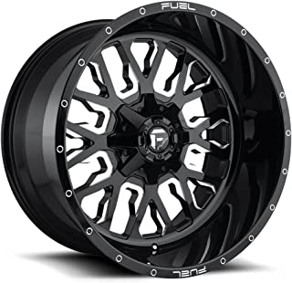 FUEL Stroke NBL-Gloss BLK MIL Wheel with Painted (17 x 9. inches /6 x 135 mm, -12 mm Offset)