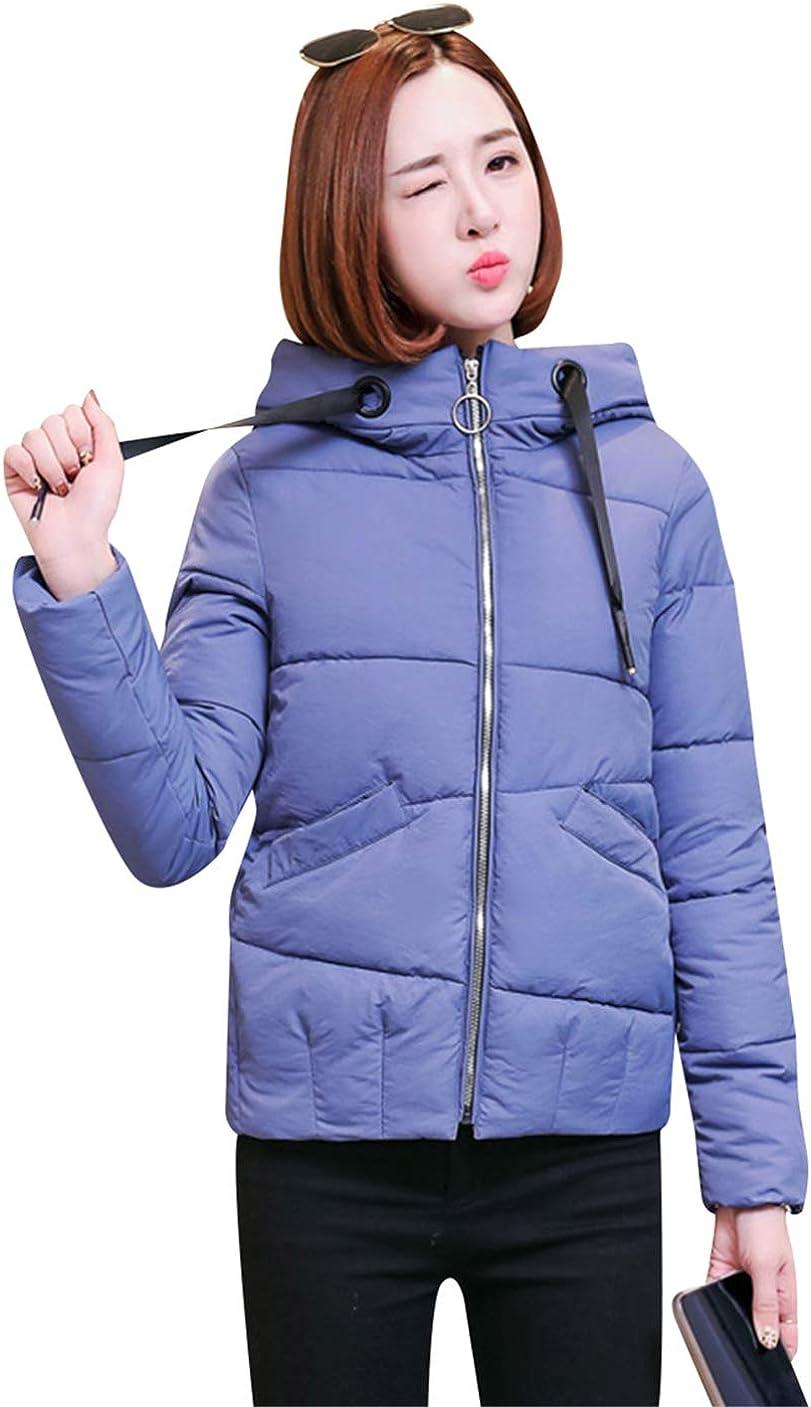 GRASWE Women's Warm Down Cotton Coat Winter Puffer Jacket Hooded Outerwear