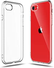 SHAMO'S Clear Shock Absorption TPU Rubber Gel Case (Clear) compatible with iPhone SE 2020 (2nd Generation), iPhone 7 and iPhone 8 (Clear)