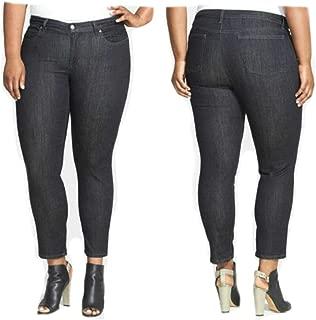 Eileen Fisher Organic Cotton Soft Str Denim Slim Ankle Jeans 24W