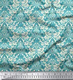 Soimoi dekorative Blumen Damast-Druck 44 Zoll breit