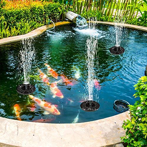 MInuano Solar Fountain, New Upgraded Water Level Sensor, Battery Backup, Bird Bath Fountain Pump 2.4W Solar Panel Kit, Outdoor Watering Submersible Pump for Pond, Pool, Garden, Fish Tank, Aquarium
