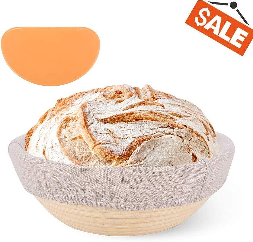 9Inch Premium Banneton Proofing Basket Sourdough Proofing Basket Nice Bread Proofing Bowl With Multi Purpose Linen Basket Liner For Making Beautiful Bread