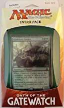 Magic the Gathering: MTG Oath of the Gatewatch: Intro Pack / Theme Deck: Concerted Effort (includes 2 Booster Packs & Alternate Art Premium Rare Promo) Green / White - Gladehart Cavalry