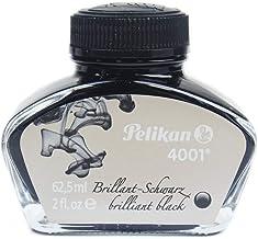 Pelikan 4001 Bottled Ink for Fountain Pens, Brilliant Black, 62.5ml, 1 Each (329144)