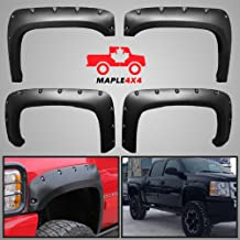 Smooth Black Paintable Pocket Style 4pc Kit w// Installation Hardware and Instructions Maple4x4 2014-2017 Toyota Tundra Injection Molded Fender Flares