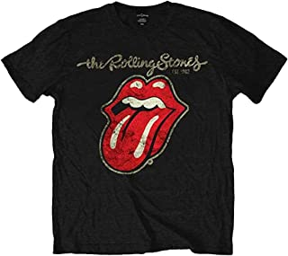 M shirt UNION JACK rolling stones style. GIRLS White,T