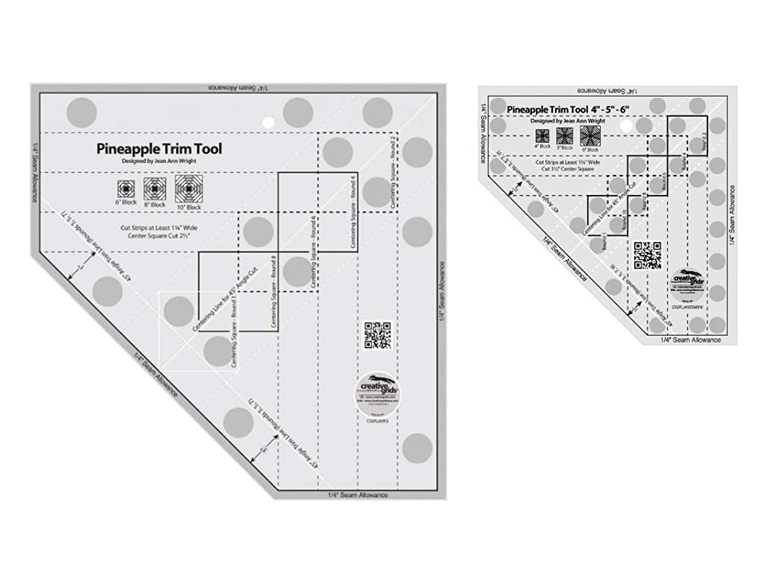 Creative Grids 2 Pack - Pineapple Trim Tool (CGRJAW3) and Pineapple Trim Tool Mini (CGRJAW3MINI)